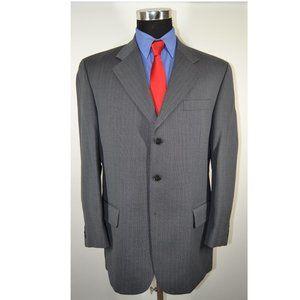 Beaver Brook 42R Sport Coat Blazer Suit Jacket Gra